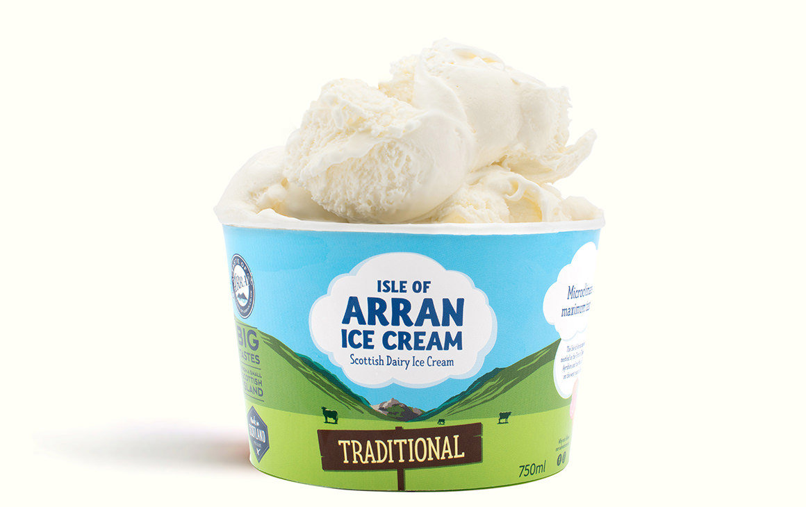 Arran Ice Cream Traditional Family Tub